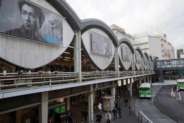 去年の渋谷駅