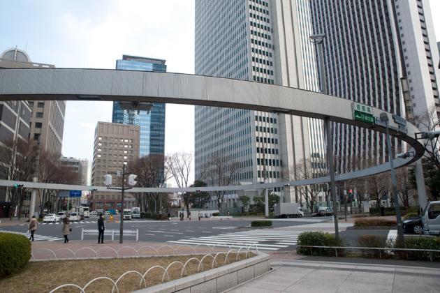 西新宿にて