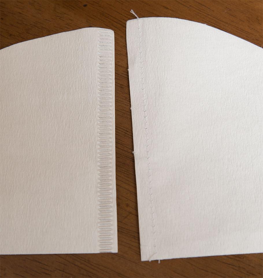 ペーパー比較(左が松屋式)