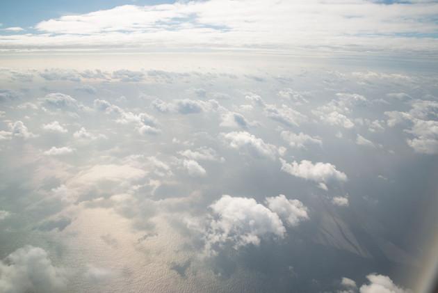 沖縄上空にて