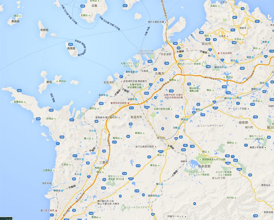 香川県の地図