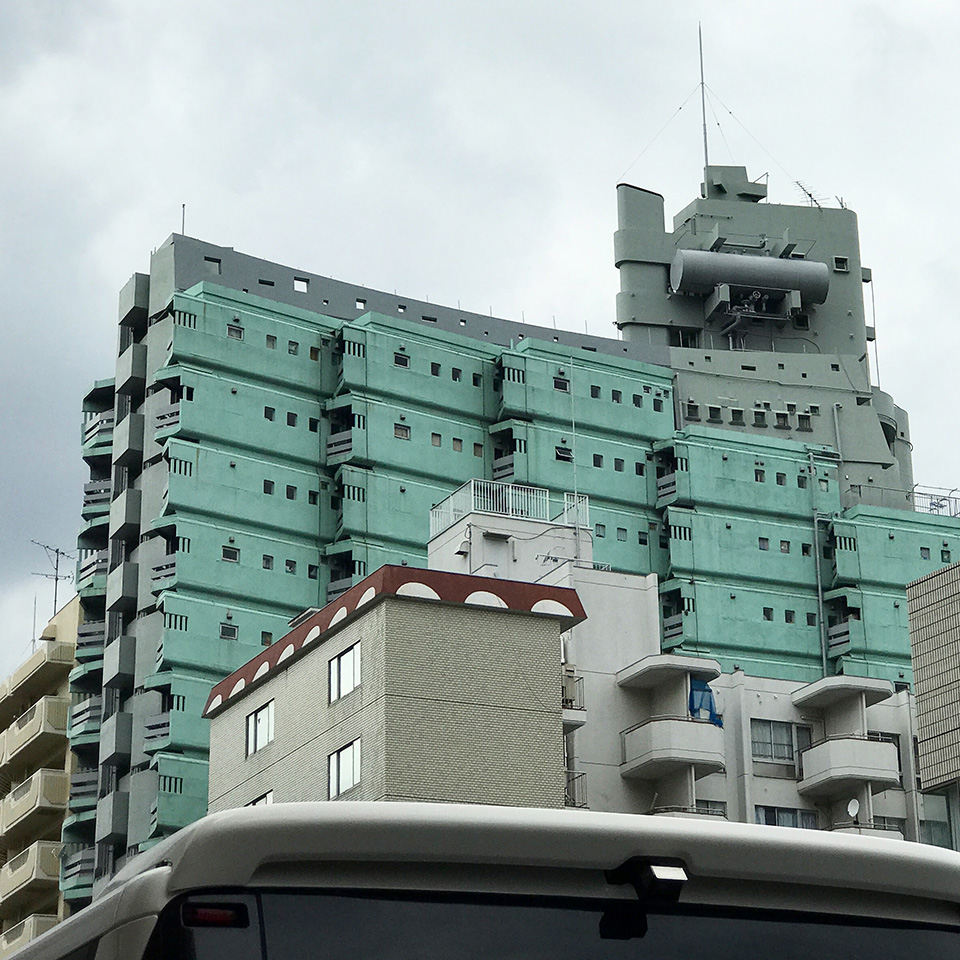 東新宿にて