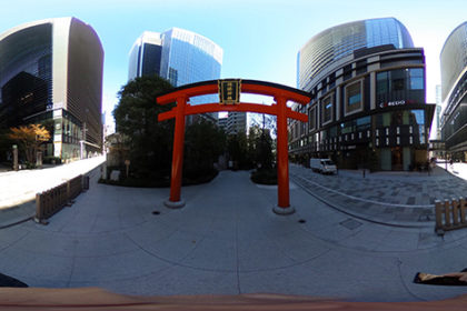 福徳神社にて
