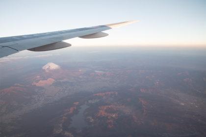 箱根・富士山上空にて