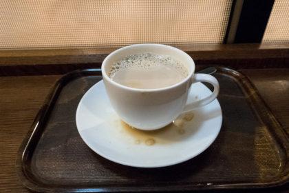 コーヒーをこぼす