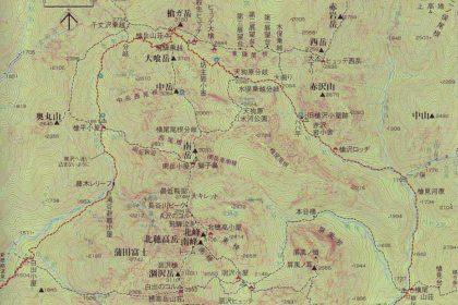 穂高連峰の地図