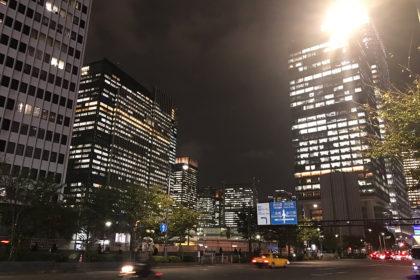 東京都中央区にて