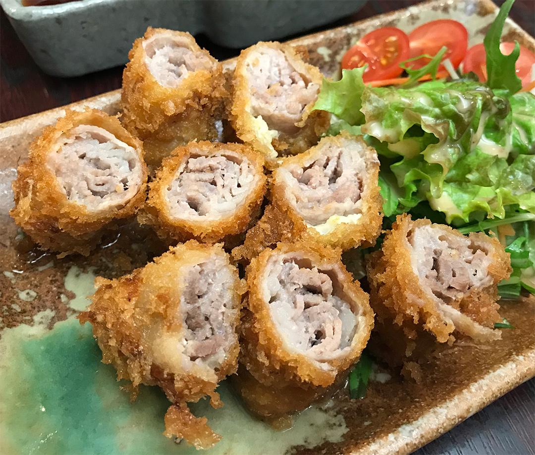 石垣島産もろみ豚バラ肉のミルフィーユカツ