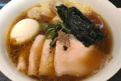 Japanese Soba Noodles 蔦・チャーシューワンタン味玉醤油Soba