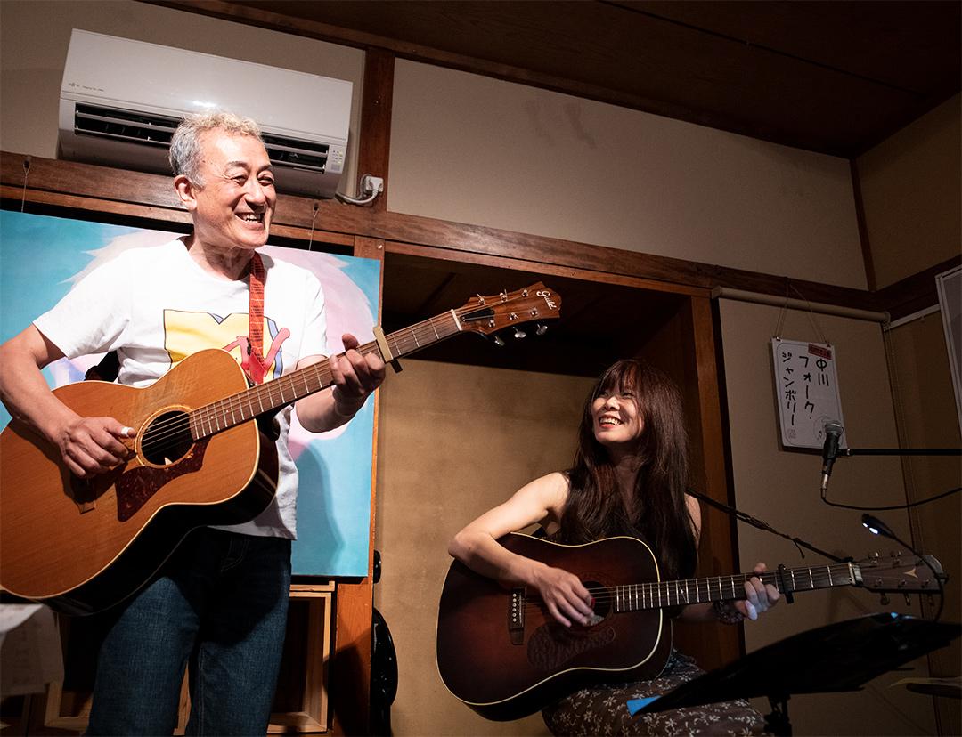 中川五郎さんとYO-ENさん