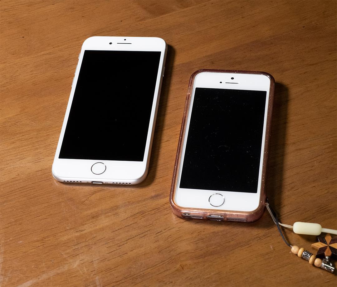 iPhone8と5s