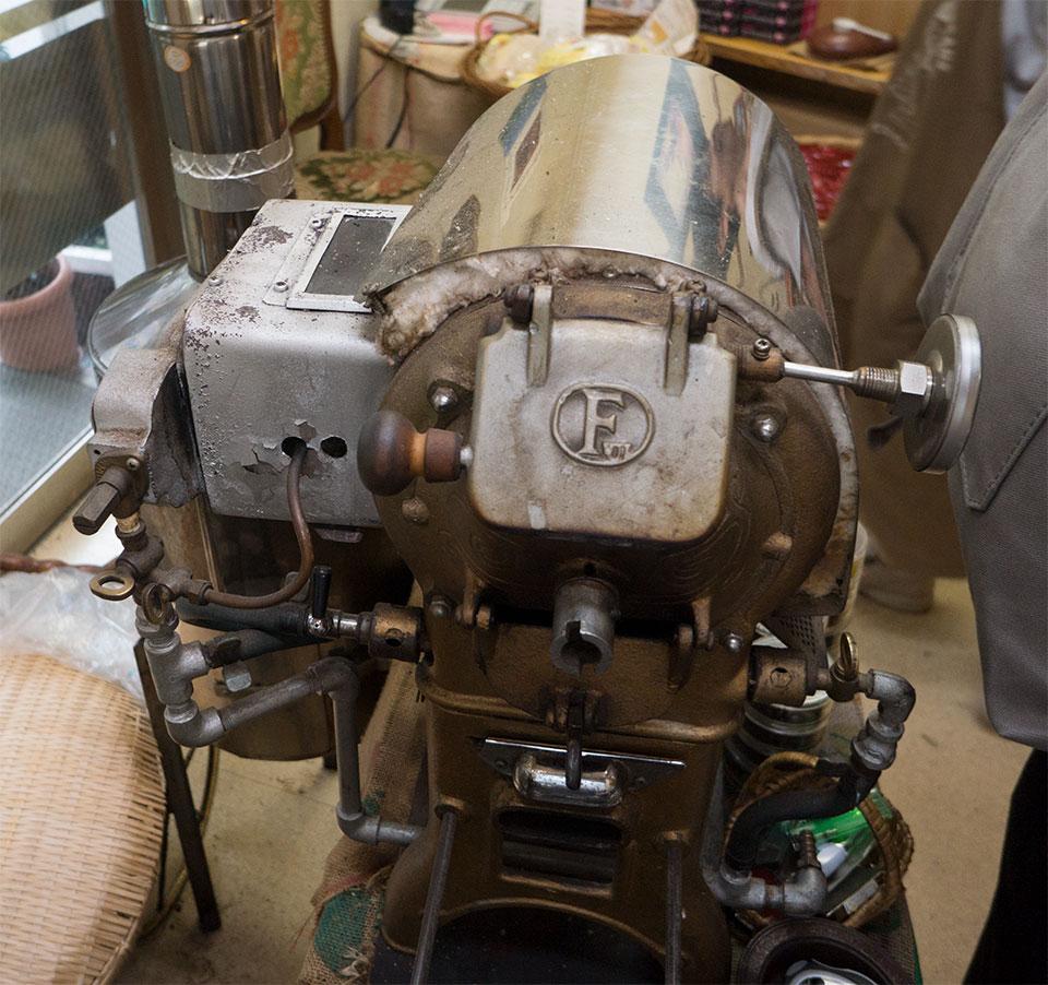 赤外線付き焙煎機