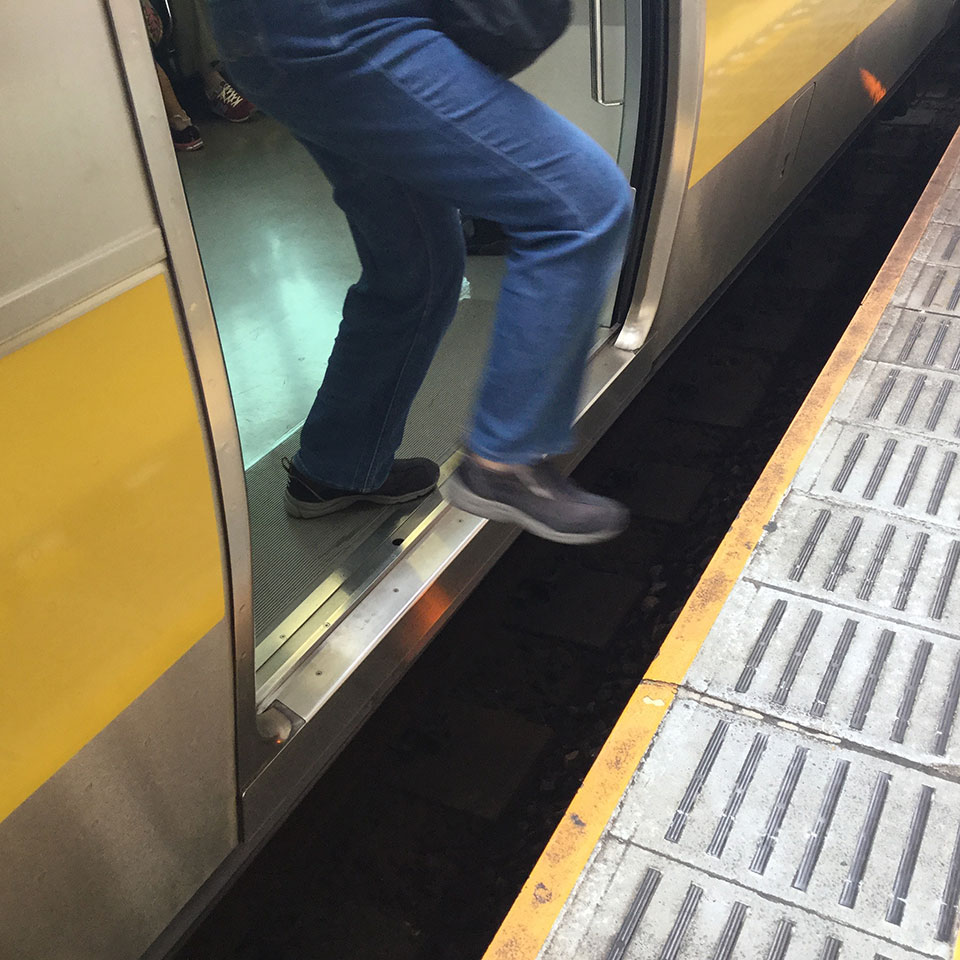 飯田橋駅のホームの隙間