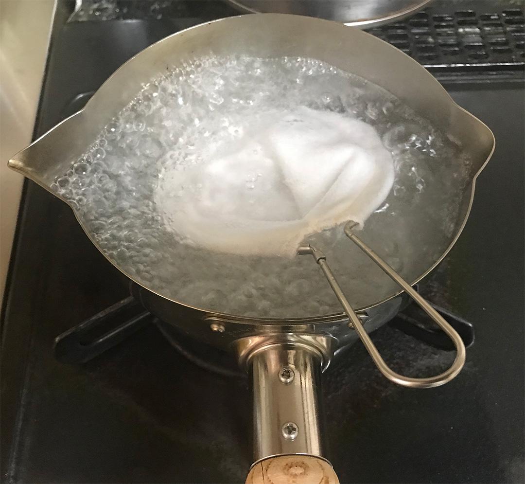 最初に煮沸